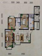 富地・朗城3室2厅1卫0平方米户型图