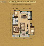 首开・国风海岸3室2厅2卫0平方米户型图