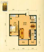 青年城邦1室2厅1卫0平方米户型图