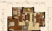 天府欧城2室2厅1卫65平方米户型图