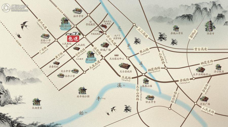 杨帆龙悦区位图-中式合院