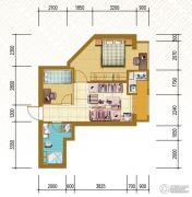 仁恒国际领寓2室1厅1卫61平方米户型图