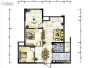 广厦名都2室2厅1卫79平方米户型图