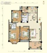 航宇・香格里拉3室2厅2卫124平方米户型图