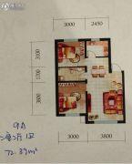 辽阳第一城2室2厅1卫72--73平方米户型图