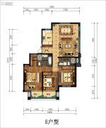 丁香花园玉泉苑3室2厅2卫163平方米户型图