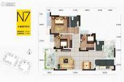 华府幸福城3室2厅2卫101平方米户型图