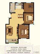 东郡3室2厅1卫114平方米户型图