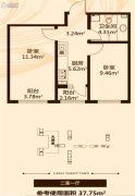 金瑞林城2室1厅1卫0平方米户型图