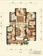 中海国际社区4室2厅2卫150平方米户型图