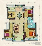 淄博碧桂园4室2厅2卫142平方米户型图