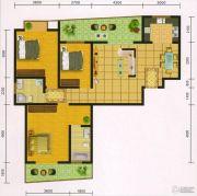 郧阳国际园3室2厅2卫130--132平方米户型图