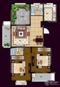 华夏世纪锦园3室2厅2卫121平方米户型图