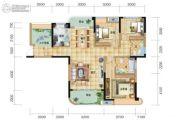 五矿万境水岸3室2厅2卫128平方米户型图