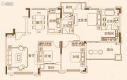 济南恒大龙奥御苑3室2厅2卫142平方米户型图