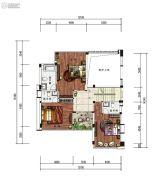 雅居乐原乡4室3厅0卫288平方米户型图