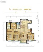 路劲隽澜湾4室2厅2卫138平方米户型图