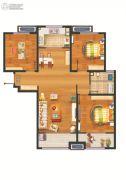万科・幸福里3室2厅1卫105平方米户型图