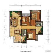 兴盛天鹅堡3室2厅2卫108平方米户型图