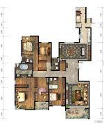 仁恒江湾城5室2厅4卫305平方米户型图