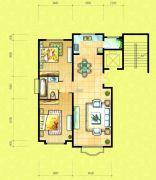 四季花城2室2厅1卫0平方米户型图