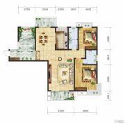 金钻国际3室2厅2卫130平方米户型图