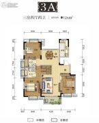 国采光立方3室2厅2卫126平方米户型图