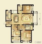 华润橡树湾3室2厅2卫140平方米户型图