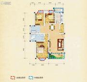 弘乐府・公园1号3室2厅2卫116平方米户型图