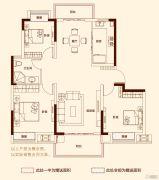 和昌湾景3室2厅1卫110平方米户型图