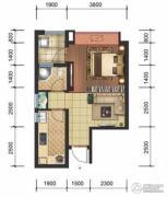 星洲国际1室1厅1卫43平方米户型图