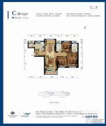 嘉里海楹台3室1厅2卫128平方米户型图