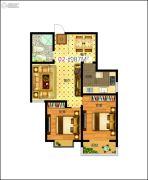 东润国际新城2室2厅1卫0平方米户型图