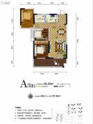 新华联・梦想城3室2厅1卫95平方米户型图
