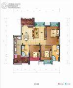 佳兆业丽晶公馆3室2厅1卫89平方米户型图