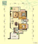 天鹅湾2室2厅1卫85平方米户型图