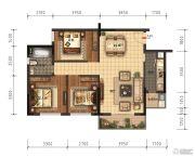 领美・大学家园3室2厅1卫94平方米户型图