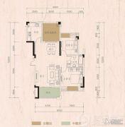 远大美域2室2厅1卫0平方米户型图