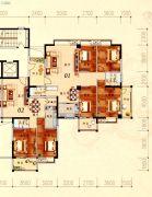 陶然家园2室2厅2卫93平方米户型图