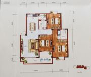 百丰花园3室3厅3卫108平方米户型图