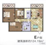 盛锦花园3室2厅1卫124平方米户型图