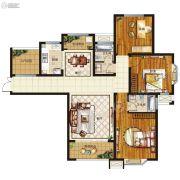 腾飞鹿鸣湖畔3室2厅2卫127--138平方米户型图
