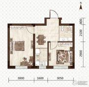 益和国际城2室1厅1卫48平方米户型图