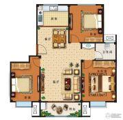 盛世康城四期・鑫园3室2厅1卫108平方米户型图