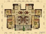 香樟美地2室2厅2卫87--88平方米户型图