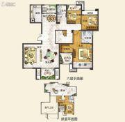 中建观湖国际4室2厅3卫188平方米户型图