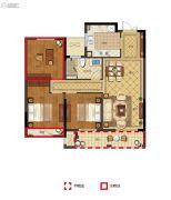 丽江半岛3室2厅1卫87--104平方米户型图