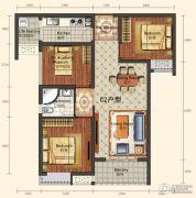 城中半岛2室2厅1卫87--90平方米户型图