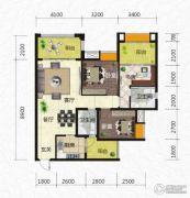 恒河嘉陵江东岸3室2厅2卫112平方米户型图