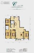 中央绿城4室2厅2卫210平方米户型图